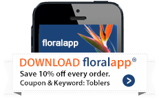 Take us with you! Order flowers on the go. Download our floralapp keyword TOBLERS.